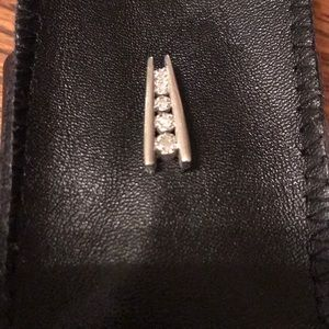 Sterling & diamond slide pendant